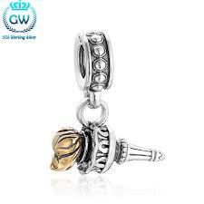 <b>GW 925</b> Sterling <b>Silver</b> Torch Charm Dangle Pendant Fit Bracelets ...
