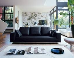 Of Living Rooms With Black Leather Furniture Modern Living Room Ideas With Black Leather Sofa Regarding Your