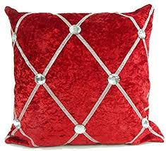cushion mania <b>LARGE</b> CRUSH VELVET DIAMANTE ...