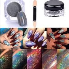 <b>2g</b>/<b>Box</b> Glitter <b>Holographic Laser</b> Powder <b>Nail</b> Rainbow Chrome ...