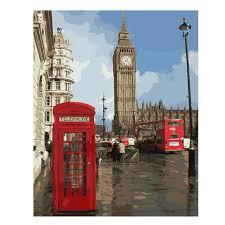 <b>WEEN</b> London City <b>Diy</b> Painting By Numbers Ship Sailing <b>Oil</b> ...