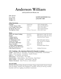 acting resume template best business template acting resume sample acting resume template 1 doc inside acting resume template