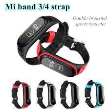 Sport Mi <b>Band</b> 4 3 <b>Strap Double</b>-breasted Xiaomi Silicone bracelet ...