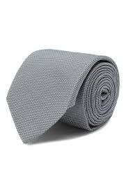 Мужской серый <b>шелковый галстук HUGO</b> — купить за 4800 руб. в ...