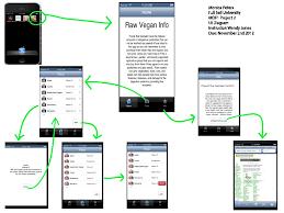 ui diagram native mobile app raw vegan info   mobile  amp  web    ui diagram native mobile app raw vegan info