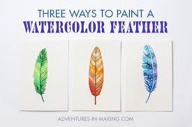 <b>DIY</b>: <b>Three</b> Ways To Paint A Watercolor Feather (For Beginners)