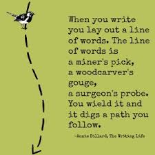 Quotes for Writers: Annie Dillard - Shonna Slayton via Relatably.com