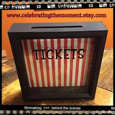 event ticket tickets ticket stub box 8x8 shadow box ticket holder box fundraisers raffle tickets school carnival auctions project graduation