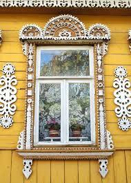 Decorative Windows For Houses Decorative Russian Window Woodwork Dacha Cabin Ancient