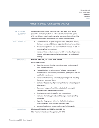 athletic director resume samples templates and job descriptions athletic director resume job description