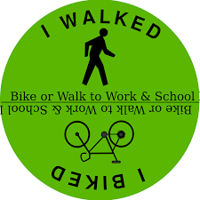 clipart bike or walk to work school day bike or walk to work school day