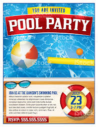 pool party invitation template stock vector art 534047368 istock 1 credit