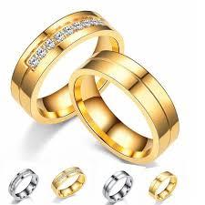 Fashion stainless steel diamond couple ring <b>Korean</b> version of <b>micro</b> ...