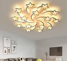 2019 <b>Modern Creativity Star</b> Chandelier Acrylic Lamp For Living ...