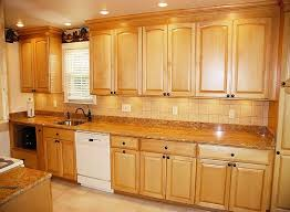 kitchen cabinets with granite countertops: golden oak cabinets with white appliances maple arched kitchen cabinets granite counters simple