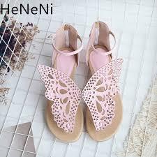 <b>Summer</b> New <b>Women Sandals</b> Hollow Butterfly decoration Flats ...