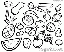 Small Picture Coloring Download Fruits And Veggies Coloring Pages Fruits And