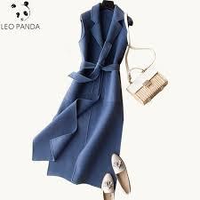 2019 Fashion <b>Autumn Winter Women's</b> 100% Wool <b>Vest</b> Coat New ...