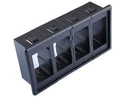 Rocker Switch Clip Panel, 4 <b>Black</b> Holder Housing <b>ARB Carling</b> Type