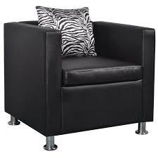 <b>Cube</b> Armchair <b>Artificial Leather Black</b> | Single sofa chair, Armchair ...