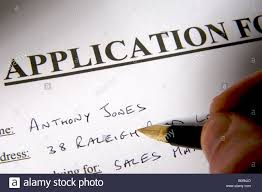 filling in application form stock photo royalty image filling in application form
