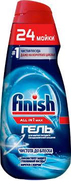 "<b>Гель</b> для мытья посуды Finish All in 1 Max ""Чистота до <b>блеска</b> ..."