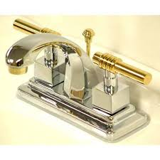 bathroom facuets milano chrome and polished brass centerset bathroom faucet