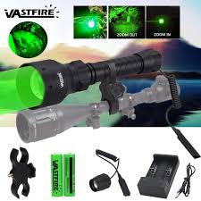 <b>VastFire Zoomable</b> Adjustable <b>Infrared</b> Torch Hunting Light Black ...