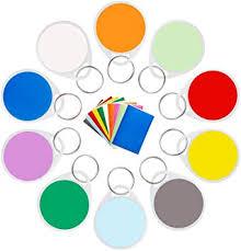 10PCS Plastic Key Tags, Colorful Round Key Tags ... - Amazon.com
