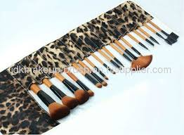 leopard print makeup brush kit set picture for review 3