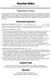 administrative assistant resume example   sampleadministrative assistant sample statements for resumes