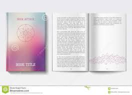 book design template stock vector image  book design template