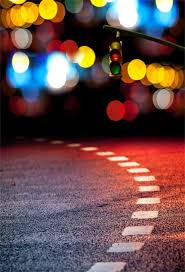 <b>Laeacco Glitter Light Bokeh</b> Road Traffic Sign Child Night Scenic ...