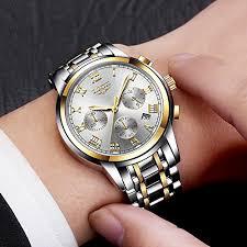 Watches <b>Mens Full Steel</b> Quartz Analog Wrist Watch <b>Men</b> Luxury ...