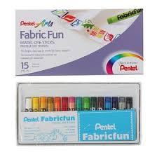 <b>Пастель для ткани Pentel</b> FabricFun Pastels, 15 цветов, 8/60 мм ...