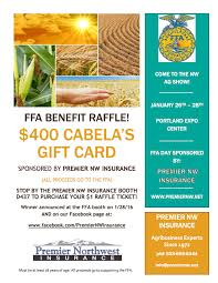 cabela s gift card raffle northwest agricultural show premier nw ins raffle flyer