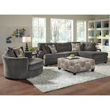 Upholstery Living Room Furniture American Signature Furniture Grey Cordoba 2 Pc Sectional