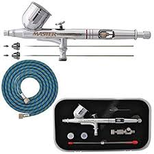 MASTER <b>PRO Dual</b>-<b>Action</b> Gravity Feed AIRBRUSH KIT SET w/ <b>3</b>
