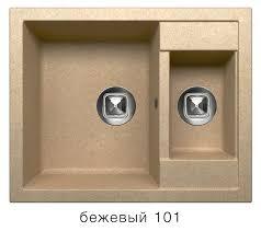 Кварцевая <b>кухонная мойка Tolero R-109</b> Бежевый