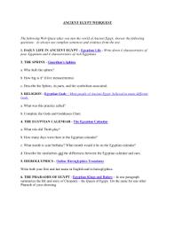 ancient egypt webquest the following webquest takes you ancient egypt webquest