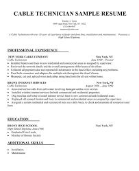 telecom technician resume telecom resume examples