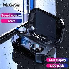 <b>g02 TWS Bluetooth</b> Wireless <b>Earphone</b> IPX7 waterproof 9D Stereo ...