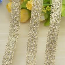 <b>1M</b> Gold <b>Sequined Lace</b> Band clothing ironing Braid Ribbon ...