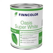 <b>Краска</b> в/<b>д д</b>/<b>потолков FINNCOLOR</b> Oasis Super White ...