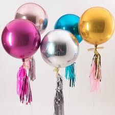 <b>1pcs</b> Rose <b>Gold</b> 4D <b>22inch</b> Round Aluminum Foil Balloons Metal ...