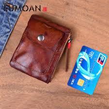 <b>EUMOAN Original</b> handmade wallet male crazy horse skin wallet ...