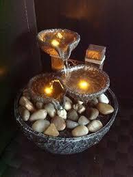 dealing feng shui: indoor outdoor water fountain stone effect feng shui home office desk lights