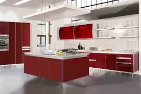 modern maroon affordable kitchen cabinets using white marble counter top affordable kitchen furniture
