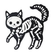 <b>Glitter Cat</b> Skeleton Enamel <b>Pins</b> Animal Gothic <b>Brooches</b> Badges ...
