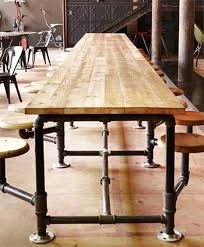 so i started researching different styles and ran across an industrial pipe table that was built for the truth coffee shop in south africa black iron pipe table